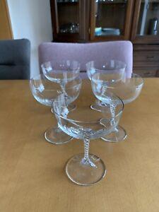 Eisch Sektschalen, Kristallglas, mundgeblasen