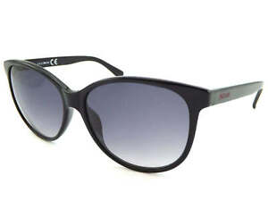 JUST CAVALLI Womens Sunglasses Shiny Black / Grey Gradient JC644 01B