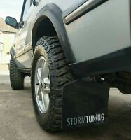 Storm Tuning LandRover Discovery 2 full Mud Flap set (x 4)  gloss black 1998