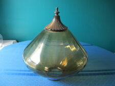 Amber Glass Dome Swag Lamp Shade Vintage