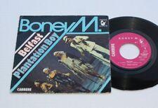 BONEY M 45 T BELFAST  HANSA RECORDS 49.317  1977  VG+/ VG+