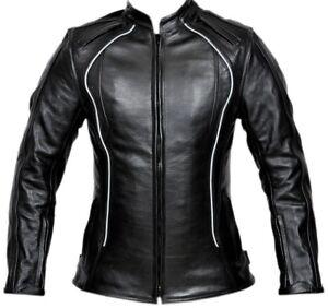 Women Motorcycle Leather Jacket Touring Rider Protection Leather Bike Jacket