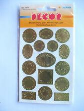 Dekor Schmucketiketten selbstklebend 2 Blatt gold