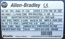 ALLEN BRADLEY MPC-B580J-M-X146 SERVO MOTOR 51.8NM 3800RPM MPCB580JMX146 460V