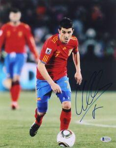 DAVID VILLA 2010 SPAIN WORLD CUP NYCFC SIGNED AUTOGRAPH 11X14 PHOTOBECKETT COA
