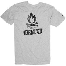 GNU snowboard skateboard surf SURVIVAL TEE-SHIRT mens SMALL GRAY New In Package