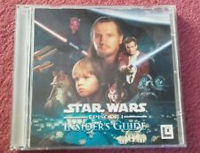 """Star Wars Episode 1 - """"initiés"""" guide pc cd. 2 disques (Windows 95/98) Comme neuf"""