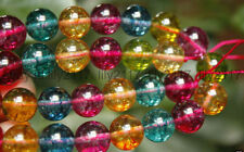 12mm Multicolor Tourmaline Round Gemstone Loose Beads 15""