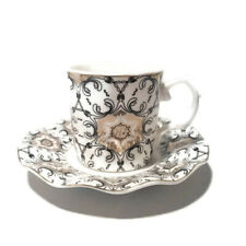 Silver Small Tea,Coffee,Espresso Cup & saucer, set of 6, decorative and Gift Set