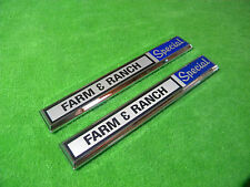 NEW 1970 1971 1972 Ford F100 F250 F350 Farm & Ranch Special Cowl Emblem Pair