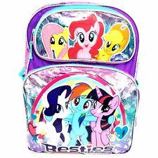 My Little Pony Rainbow Dash Benties Pink & Purple Girl16'' Large School Backpack