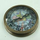 Nautical Marine Directional Zodiac Compass 3.25 Inch Beautiful Display