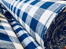 Gingham Leinen kariertes Leinenstoff Material Buffalo schwarz-scheck 140cm breit