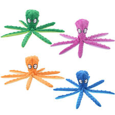 8 Legs Octopus Soft Stuffed Plush Squeaky Dog Squeakers Toy Sounder Sounding