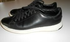 COLE HAAN GRANDPRO LOW TOP BLACK LEATHER SNEAKER/BOAT SHOE, SIZE 9M, SO NICE!