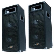 """E-Lektron PW220 500W DJ Party Lautsprecher PAAR Disco Boxen doppel 20cm/8"""" Bass"""