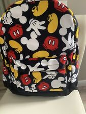 NWT Disney Parks Mickey Mouse Body Parts LARGE Backpack Bag HTF