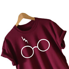 Men Women Harry Potter Glasses Deathly Hallows T-Shirt Lightning Tee Tops Blouse