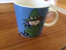 Arabia Finland Moomin mug Snufkin, Nuuskamuikkunen discontinued New Without Box