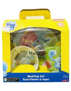 NEW Blue's Clues & You 3pc Mealtime Set Plate Bowl Cup by Zak Dinner Lunch Eat
