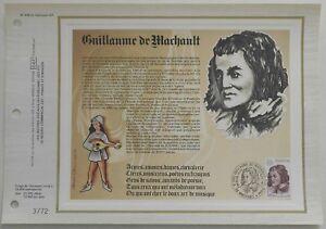 Feuillet CEF 1er jour n°428 1977 Guillaume de Machault Musique