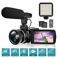 Camara De Video De Videocamara 4K Vlogging Pantalla Tactil De 3