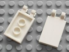 2 x LEGO White Tile with Clips ref 30350 / Set  4635 4439 60007