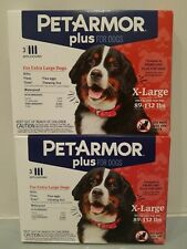 Pet Armor Plus 89-132lbs 3 Doses X2 6 Total Doses XL X Large Dogs frontline plus