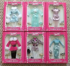 NIB 1998 MATTEL BARBIE DOLL FASHION AVENUE BOUTIQUE OUTFITS CLOTHES LOT OF 6 NEW