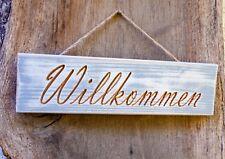 Türschild Willkommen, Geschenk, Holzschild, Deko, Schild, Shabby Chic Wunschtext