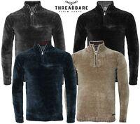Mens Threadbare Chenille Half Zip Jumper Knitwear Sweater Top Pullover TORRES