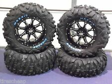 "26"" POLARIS XP850 BIGHORN RADIAL RWL ATV TIRE & 14"" WHEEL KIT SS4 COMPLETE"