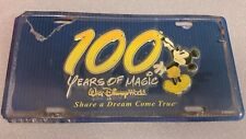 Walt Disney World 100 years of magic car tag