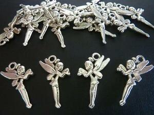 20 pce Metal Antique Silver Fairy Tinker Bell Charm / Pendants