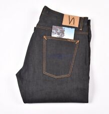 NUDIE JEANS STRAIGHT ALF ORG. DRY ROPY SELVAGE SELVEDGE men Jeans 36/34 (29044)