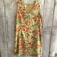 Tommy Bahama Women's Size 14 Floral 100% Silk Sleeveless Zip Back Dress