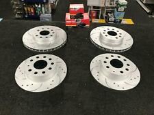 VW GOLF MK6 GTi EDITION 35 FRONT REAR BRAKE DISCS DRILLED GROOVED MINTEX PADS