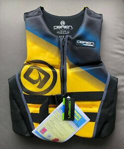 "O'Brien Men's V-Back Neoprene Life Vest Size: Large 40"" - 44"" Chest BioLite Tech"
