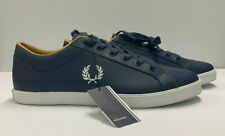 2020 Fred Perry B6158 - A19 Authentic Shoes Leather Navy US 9 EU 42