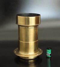 Negretti & Zambra Petzval 350mm F4.5 Brass Lens 8x10 10x12 wet plate