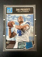 2016 Dak Prescott Panini Donruss #362 Rated Rookie Raw RC Card Dallas Cowboys