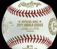 2011 World Series MLB Rawlings Baseball Cardinals Rangers Team Logos! MEGA-RARE!