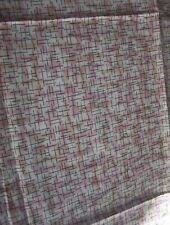 "Vintage Cotton Fabric Crisscross Pattern 2 yds + 30"" X 43"" wide"