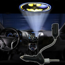 USB Batman badge Car cigarette lighter roof LED logo projector amosphere light
