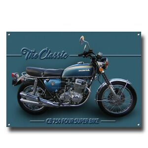 THE CLASSIC CB750 FOUR SUPER BIKE MOTORCYCLE ART METAL SIGN.GARAGE ART A4 SIZE