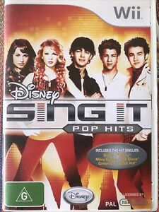 Disney Sing It Pop Hits Wii Video Game + Manual - VGC - Fast Free Post From AU