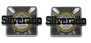 "1980-1987 Chevrolet Blazer ""Silverado"" 4WD Rear Body Side Emblem Pair - NEW"