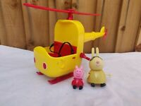 Peppa Pig Miss Rabbits Rescue Helicopter With Winch & 2 Figures