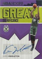 2016-17 Panini - Hoops, Khris Middleton auto Card Great Significance Bucks #39