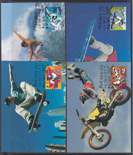 2006 EXTREME SPORTS set of 4 maximum cards, First Day cancels